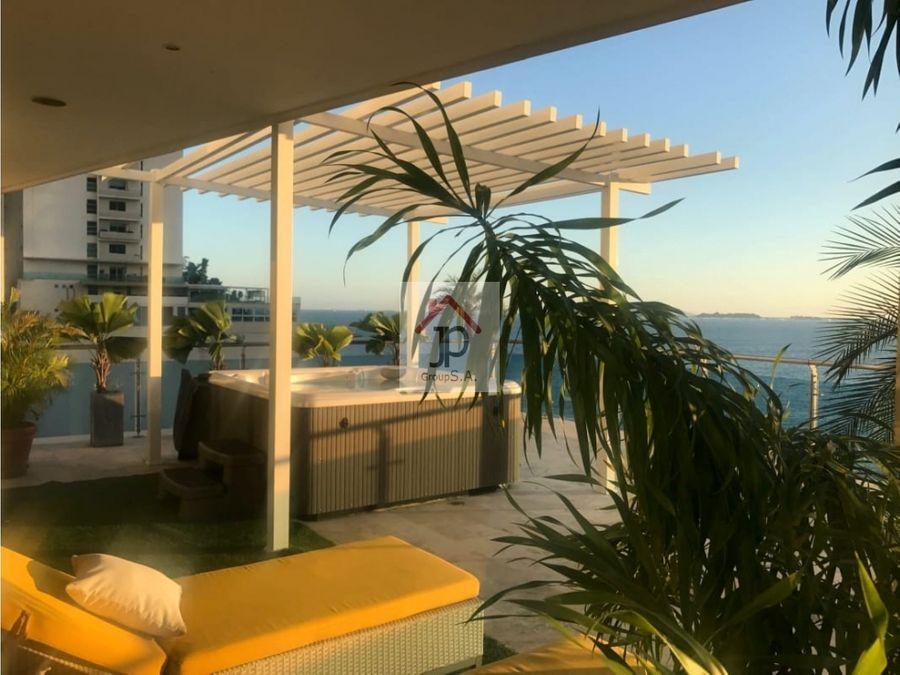 alquilo apartamento con terraza en punta pacifica