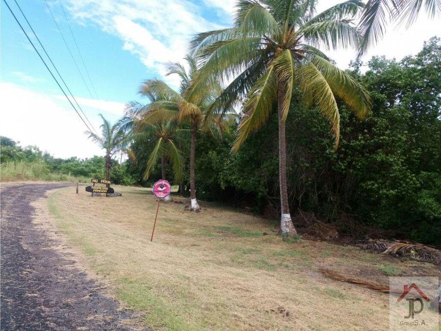 vendo terreno de playa punta chame