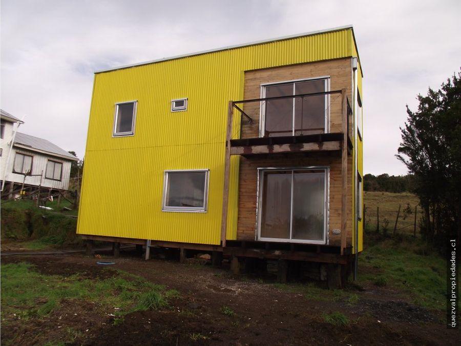 se vende casa sector rural quellon