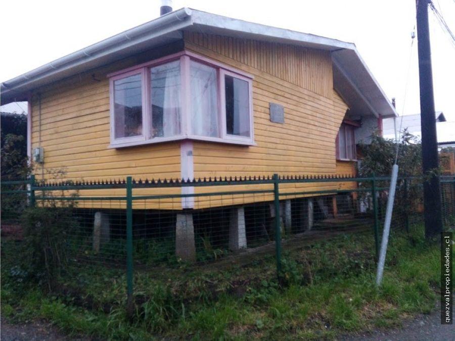 se vende casa esquina 70 m2 ancud