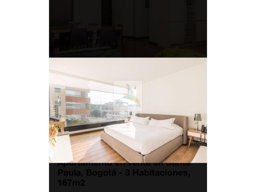 zmh 1542 apartamento en venta santa paula