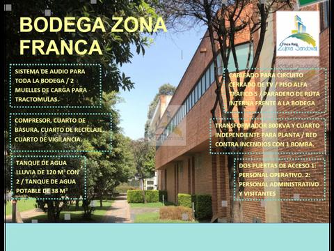 zs 832 bodega en zona franca bogota