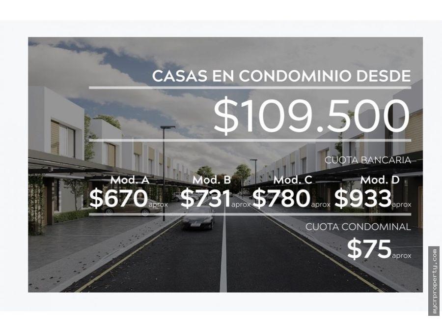 proyecto residencial en santa ana desde 109000