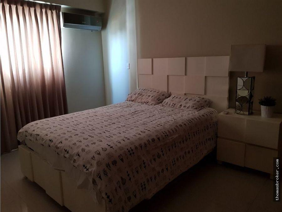 apartamento 3hab amueblado en naco cpiscina