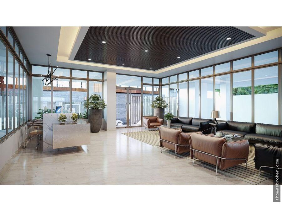 apartamento 1hab en piso alto naco 2020