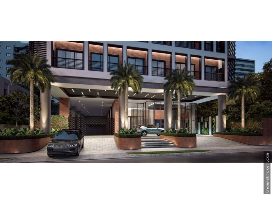 proyecto con area social lobby estilo hotel naco