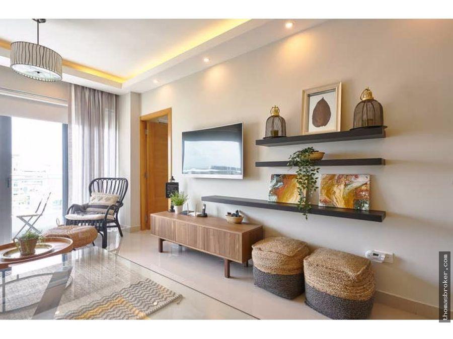 apartamento nuevo 1hab amueblado fino naco