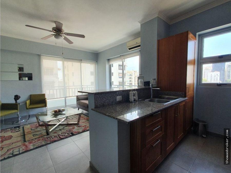 apartamento moderno 1hab amueblado fino naco