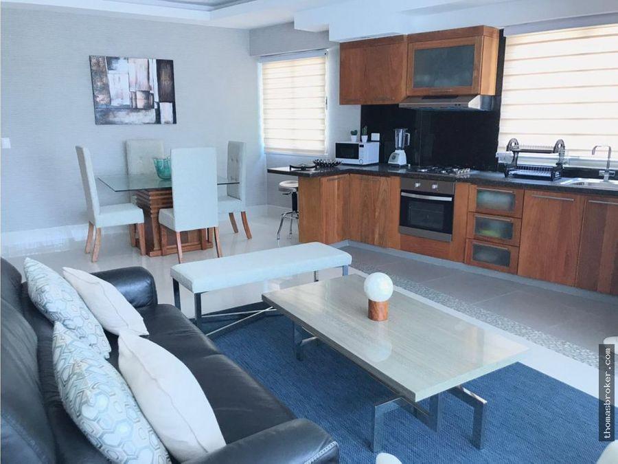 apartamento moderno 1hab amueblado nuevo naco