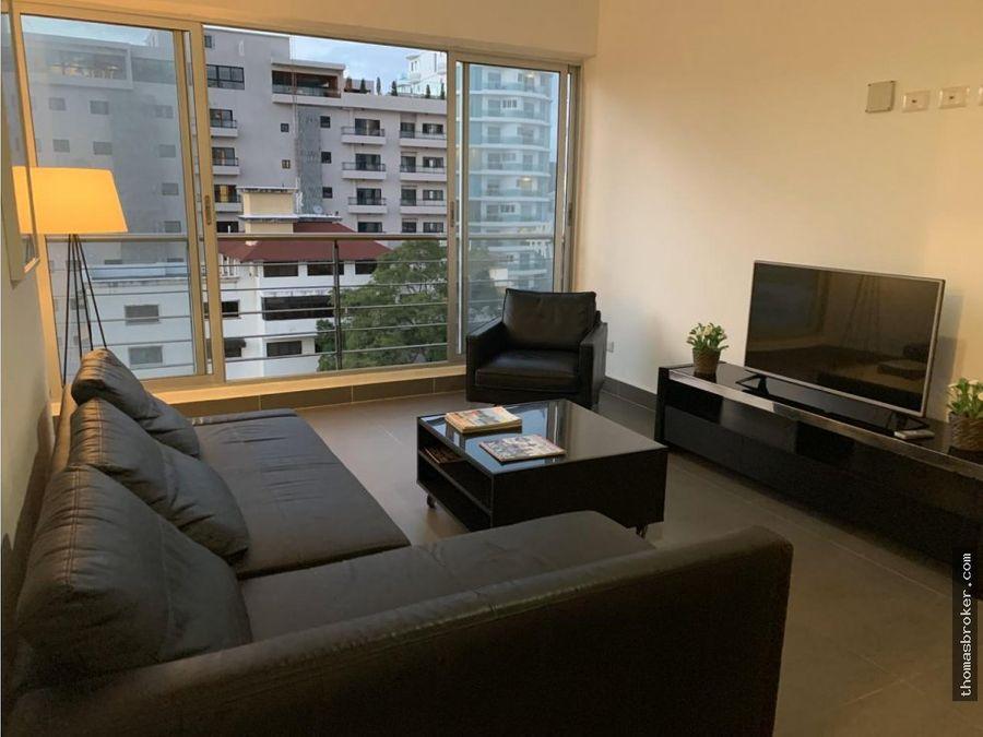 apartamento 2hab fino amueblado piantini