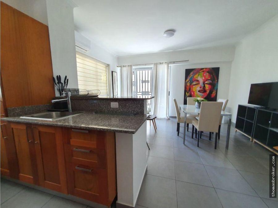 apartamento 1hab amueblado moderno en naco