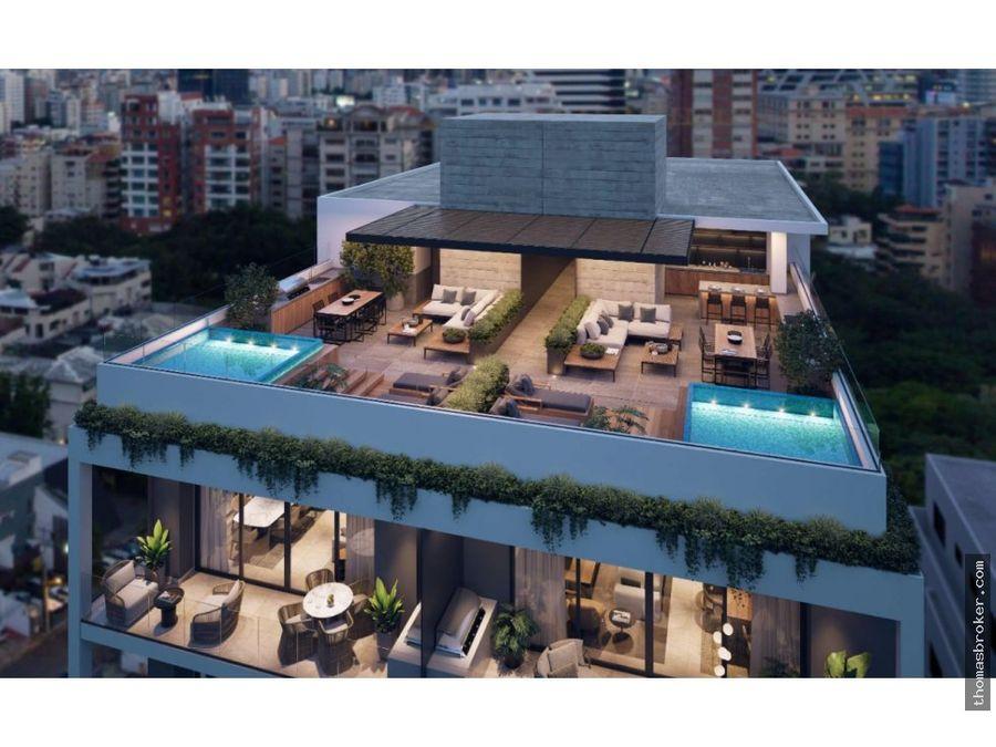 apartamentos 3hab lujo carea social rooftop piantini
