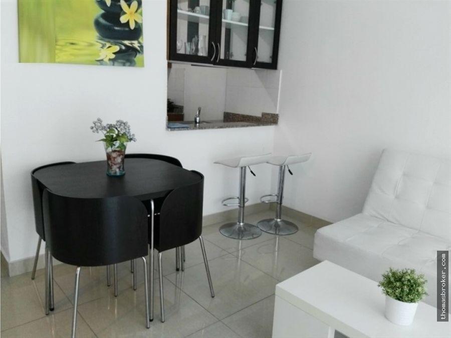 apartamento 1hab amueblado moderno gazcue