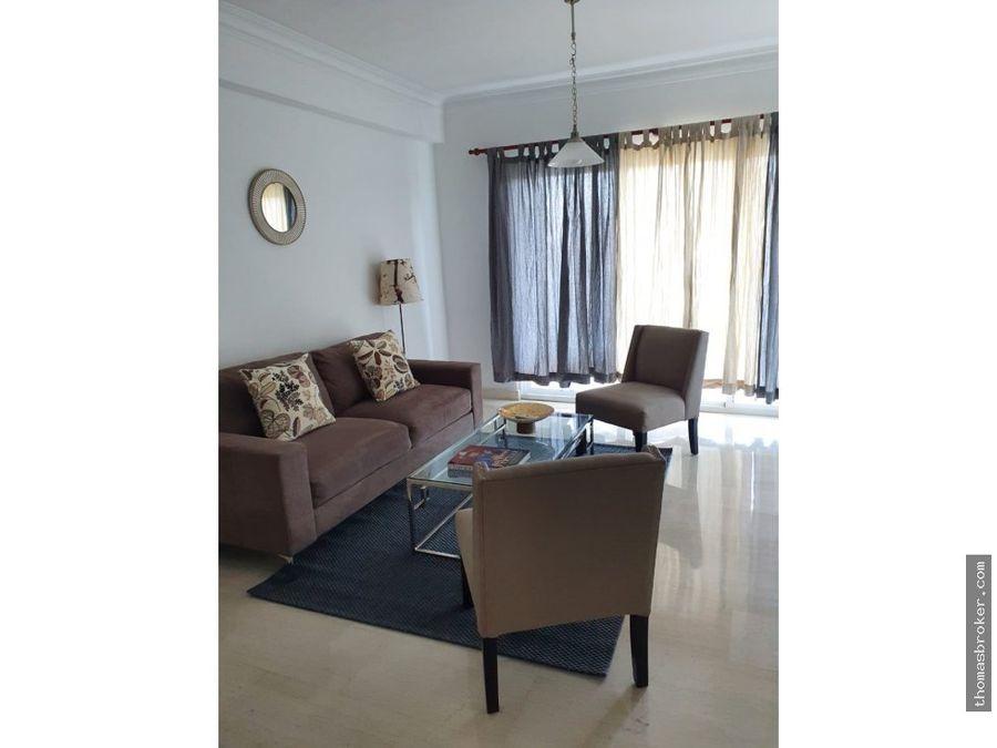 apartamento 1hab amueblado acojedor naco