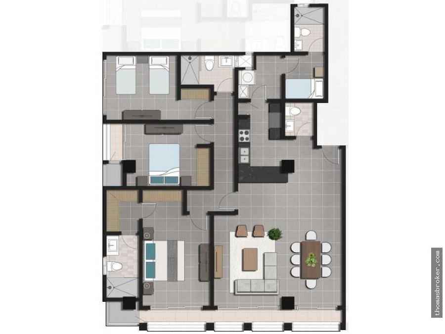 apartamentos 3habitaciones de lujo en naco 2022