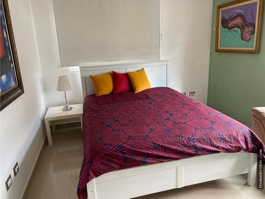 apartamento 3hab amueblado cpiscina naco