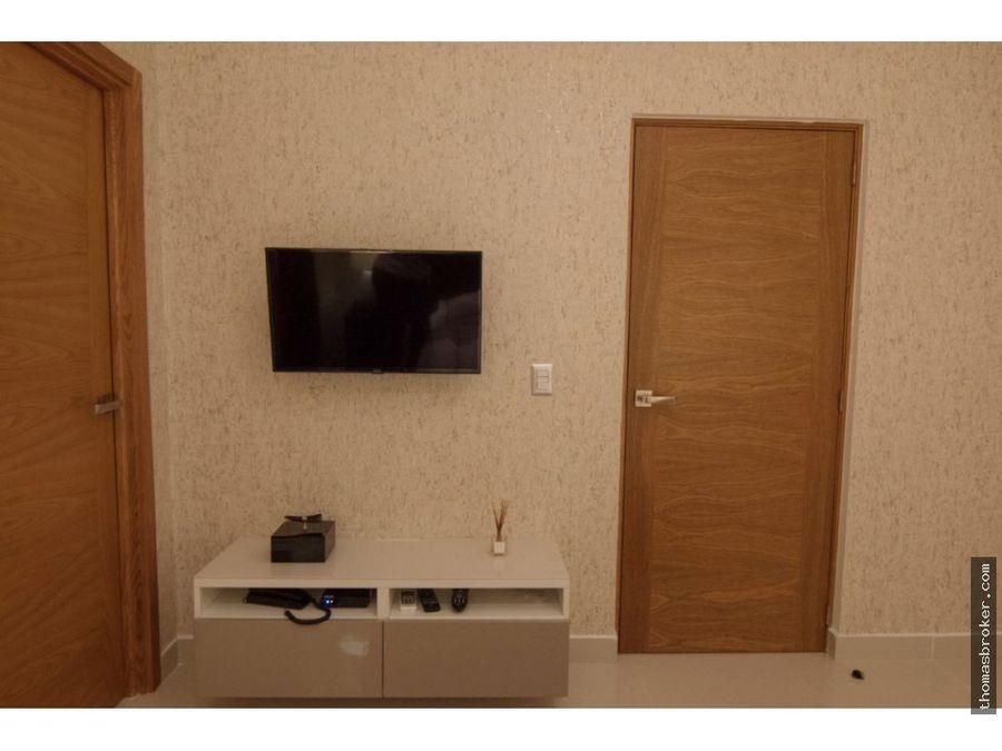 apartamento 1 hab amueblado fino piantini