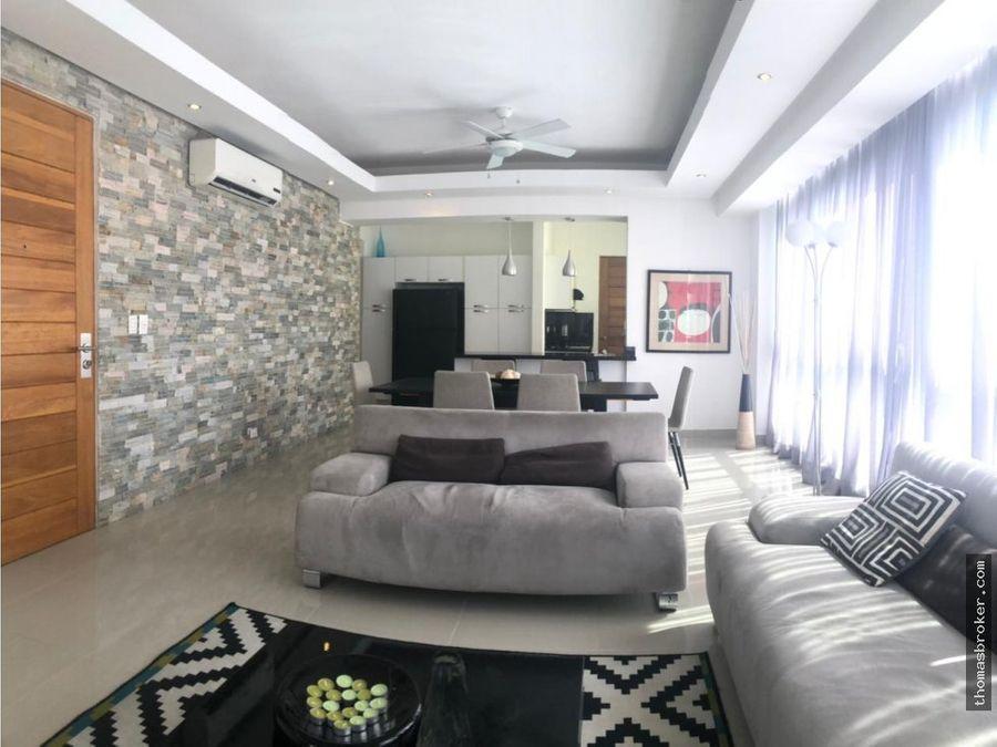apartamento 2hab amueblado moderno naco