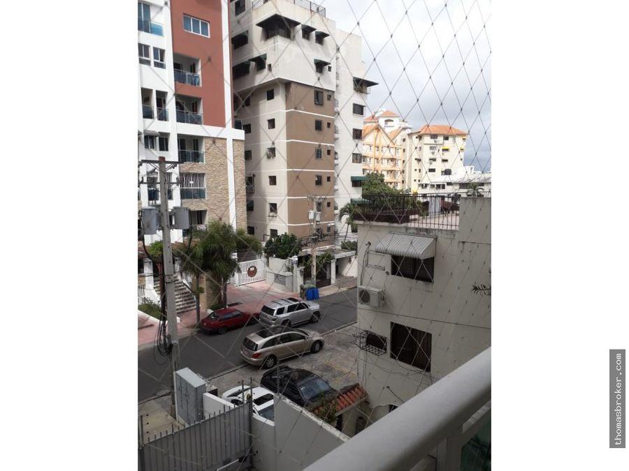 apartamento 3hab amueblado naco moderno