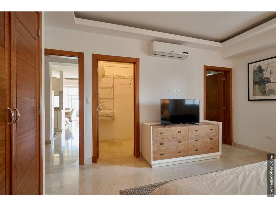 apartamento 1hab amueblado moderno cpiscina naco