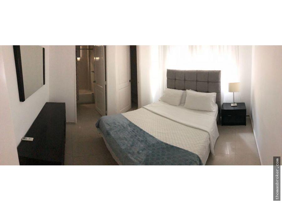 apartamento 2hab amueblado centrico naco