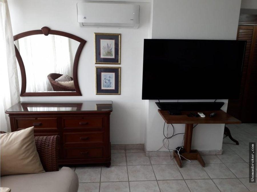 apartamento 1hab amueblado cinternet naco