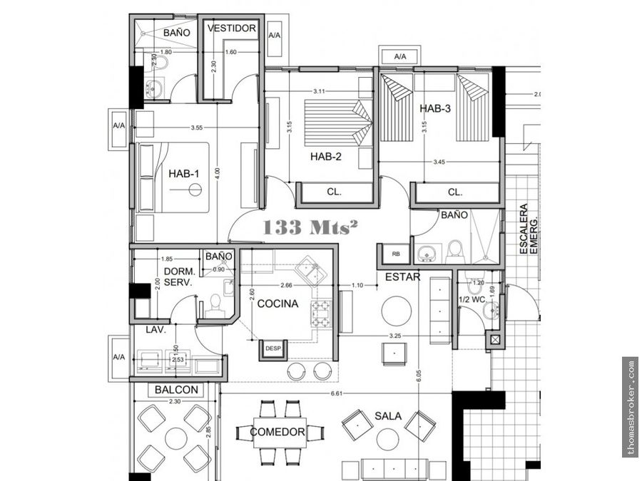 apartamentos nuevos 3hab modernoel vergel