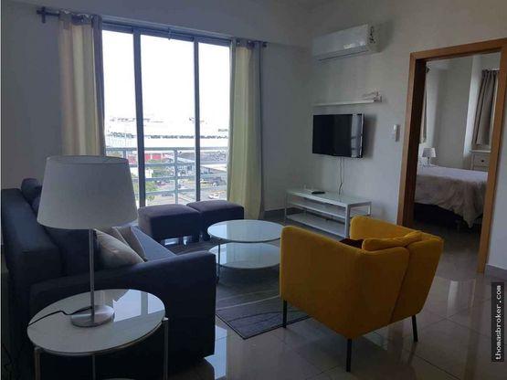 apartamento 1hab amueblado modero naco