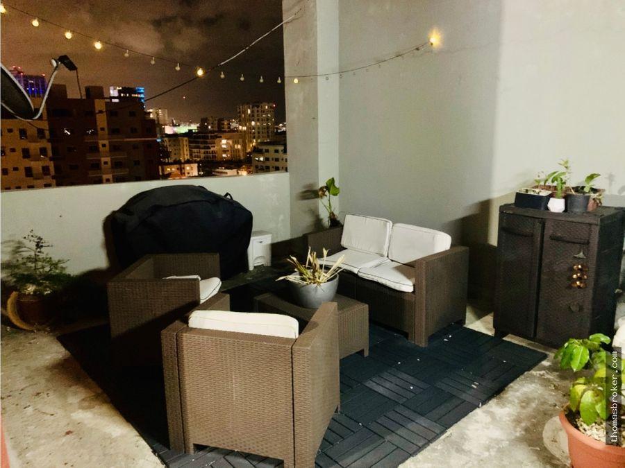 mini penthouse 1hab amueblado cterraza evaristo