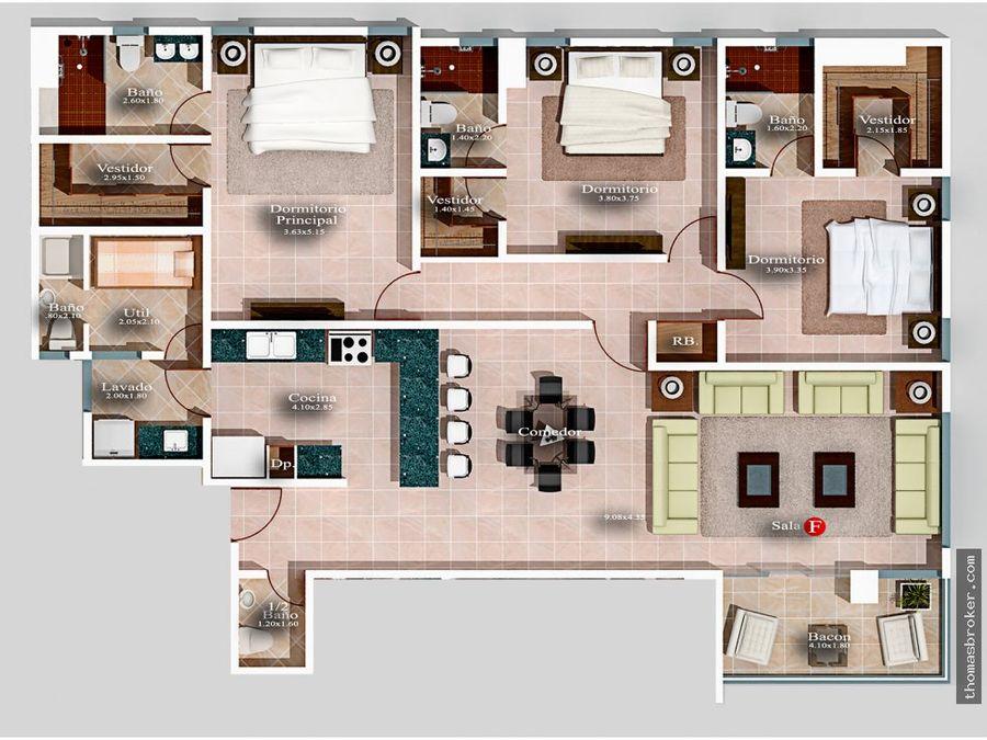 apartamentos de lujo 3hab listos 2022 naco