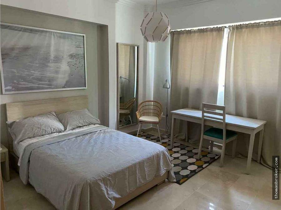 apartamento 3hab amueblado cgym naco