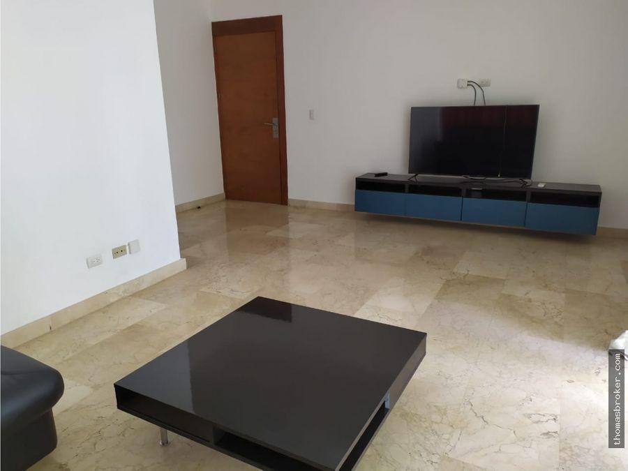 apartamento 3hab amueblado moderno naco