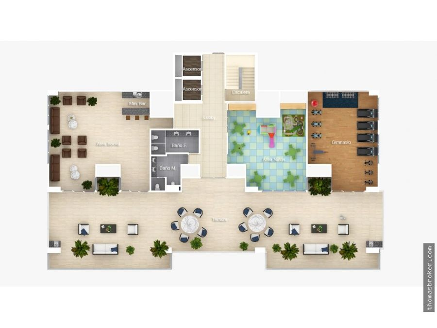 apartamentos 3hab con area social bella vista