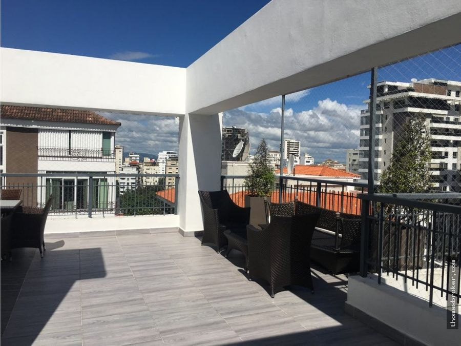 apartamento 2hab moderno clinea blanca piantini
