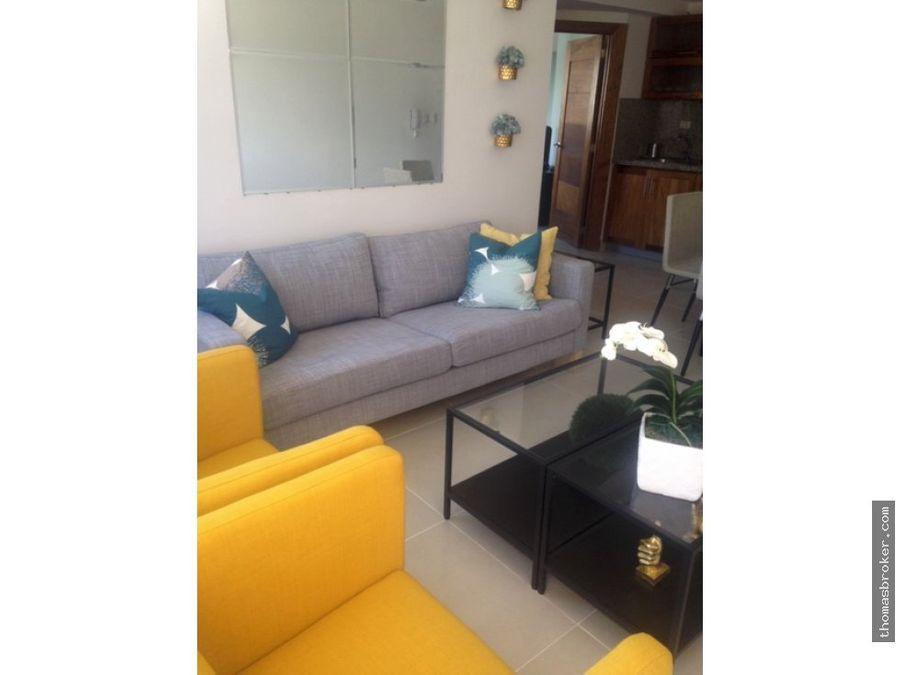 apartamento 1hab amueblado cgym piantini