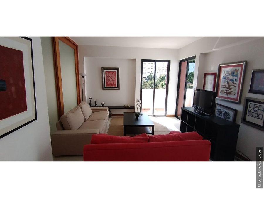 apartamento 2hab amueblado moderno evaristo