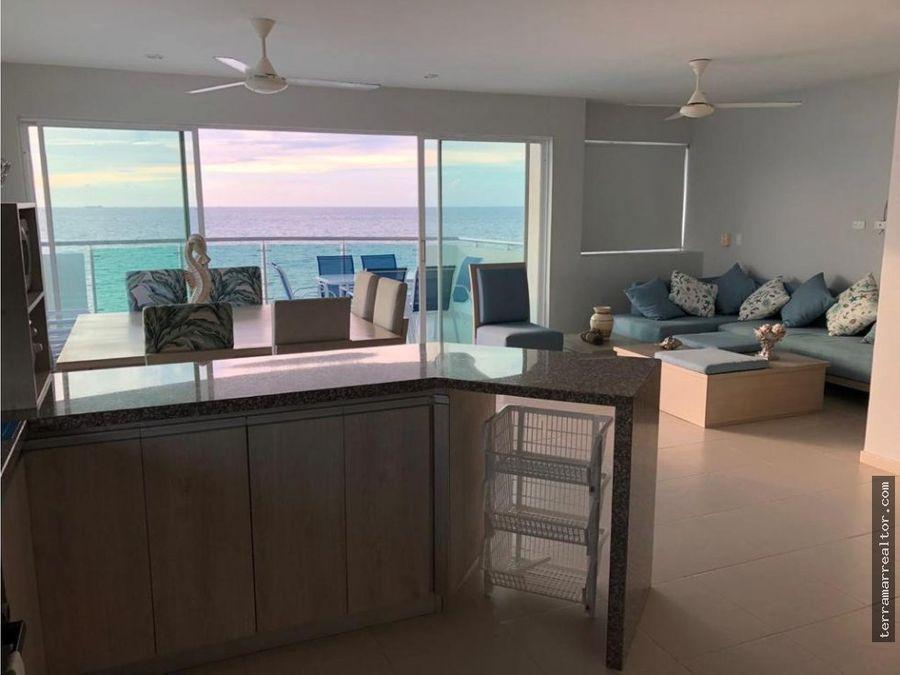 venta espectacular apartamento frente al mar