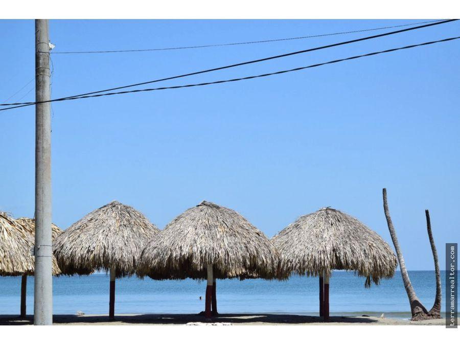 venta de cabana lote frente al mar en covenas
