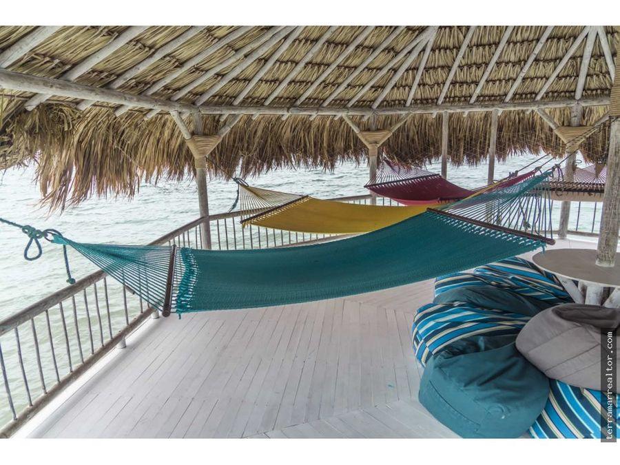 espectacular cabana en isla tintinpan 20 pax