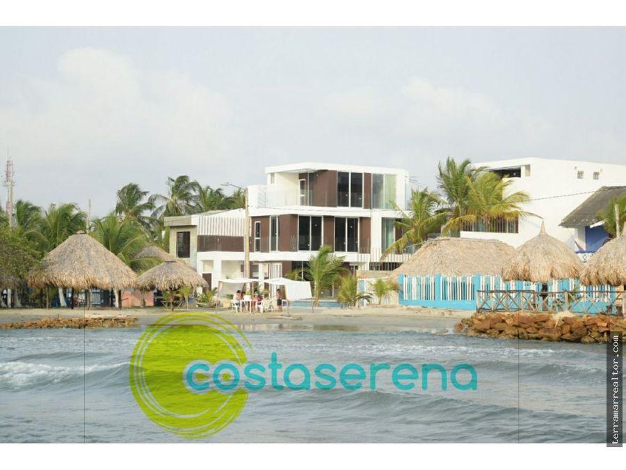 cabanas frente a la playa covenas costa serena