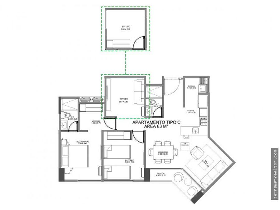 apartamentos sobre planos cartagena vista al mar