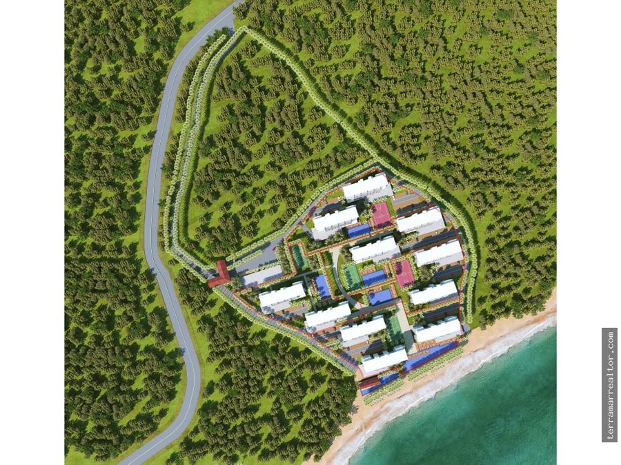apartaestudios sobre planos en isla baru cartagena