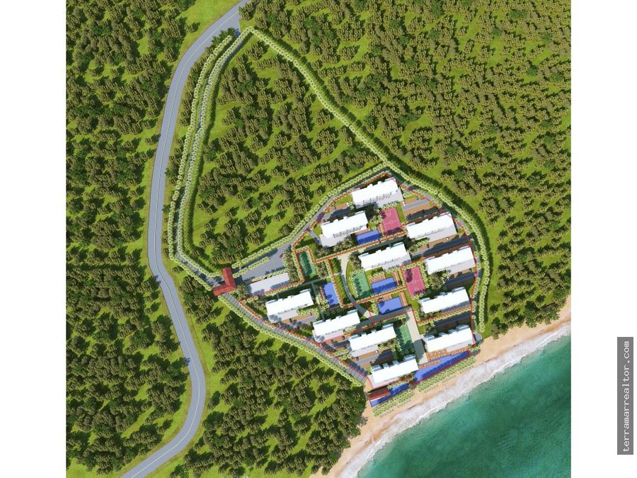 isla baru apartamentos sobre planos frente al mar