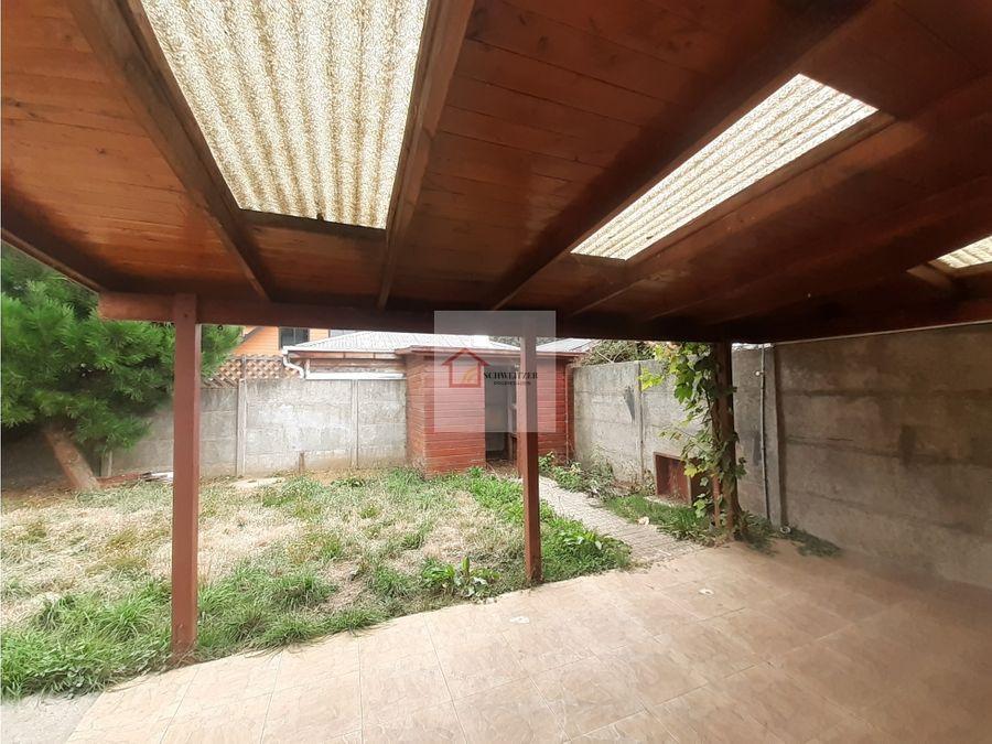casa en venta sector el bosque en valdivia