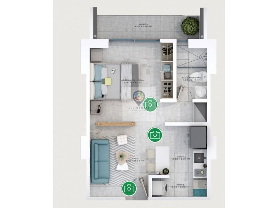 venta apartaestudio en excelente zona de la ciudad