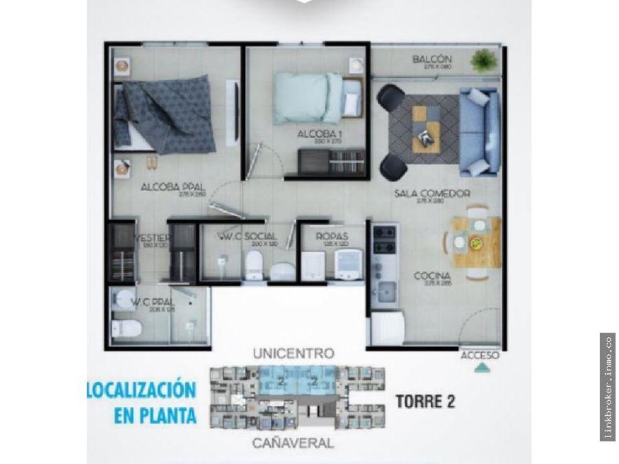 apartamento torre 2 sector unicentro pereira