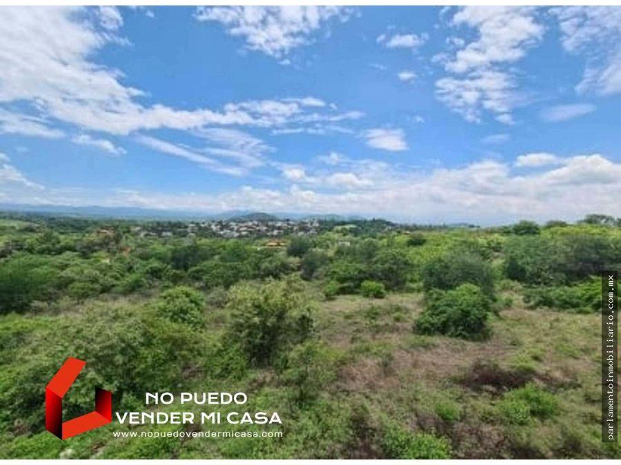 terreno en club de golf santa fe la loma xochitepec 1000 m2