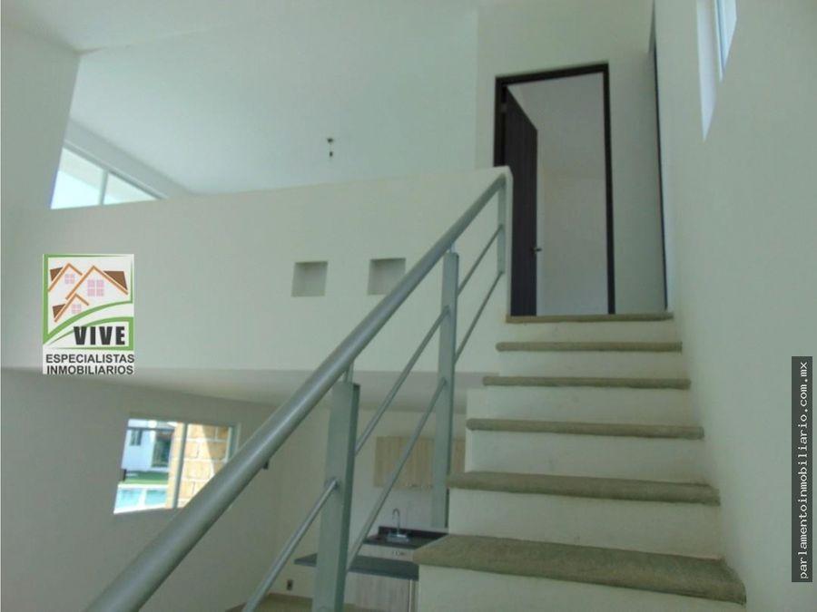 casa en venta tipo loft en yecapixtla con alberca