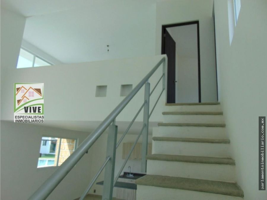 casa en preventa tipo loft en yecapixtla con alberca