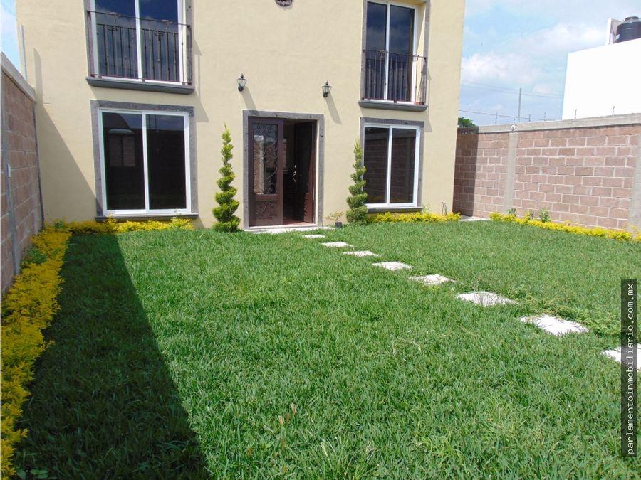 casa sola en venta en yecapixtla morelos con roof garden